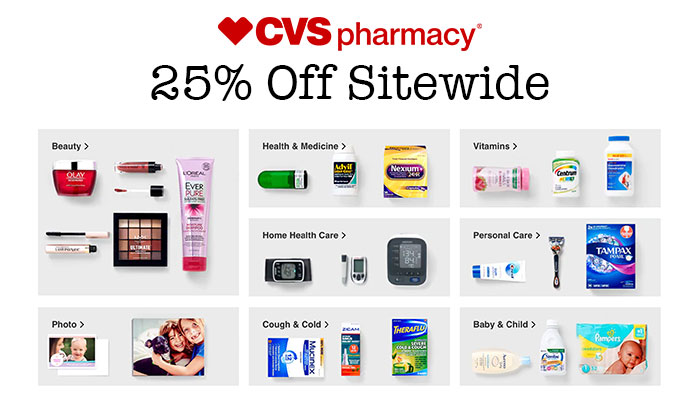 25% Off Sitewide at CVS